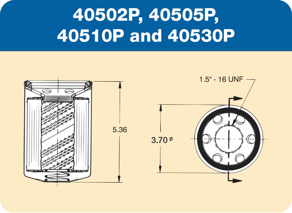 40502P, 40505P, 40510P and 40530P Diagram