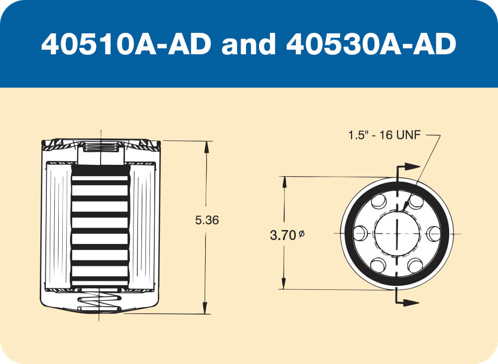 40510A-AD and 40530A-AD Diagram