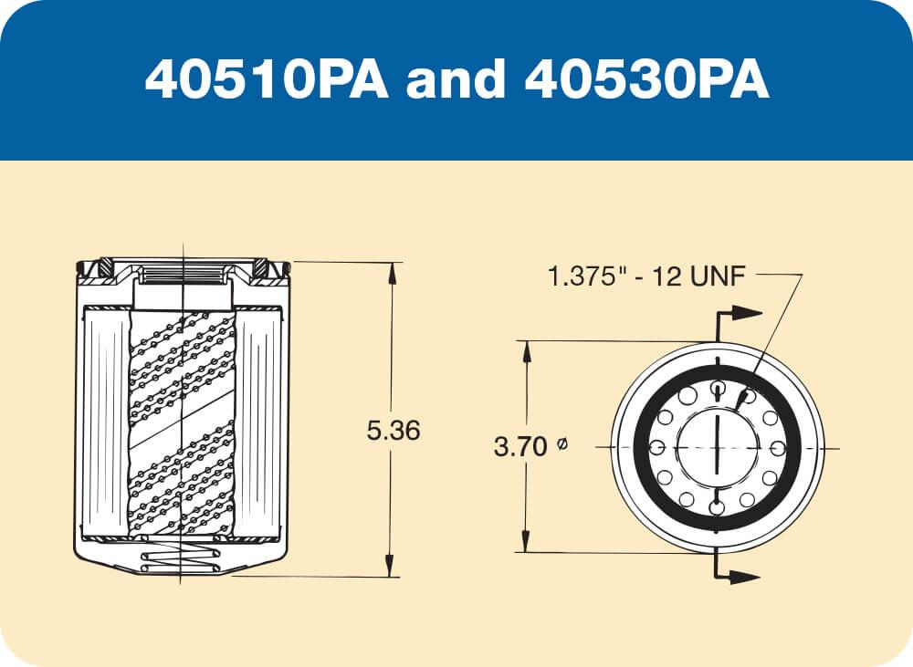 40510PA and 40530PA Diagram