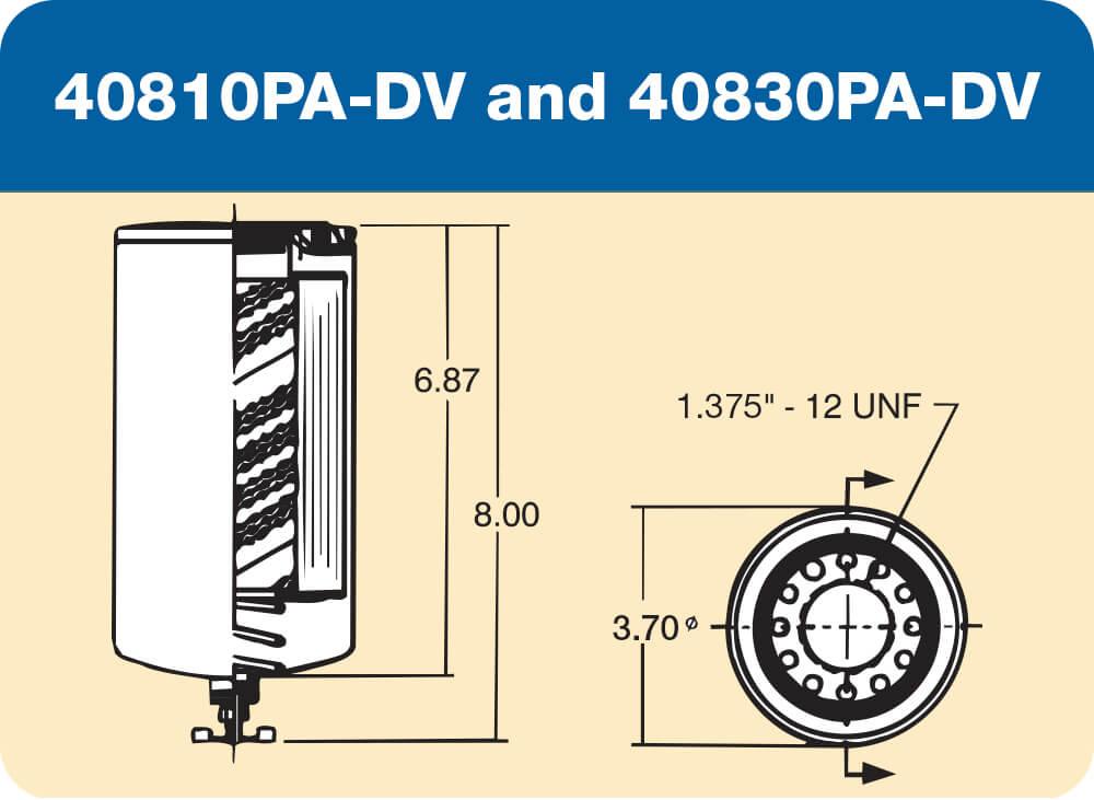 40810 PA-DV and 40830 PA-DV Diagram
