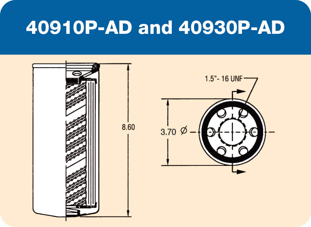 40910 P-AD and 40930 P-AD Diagram