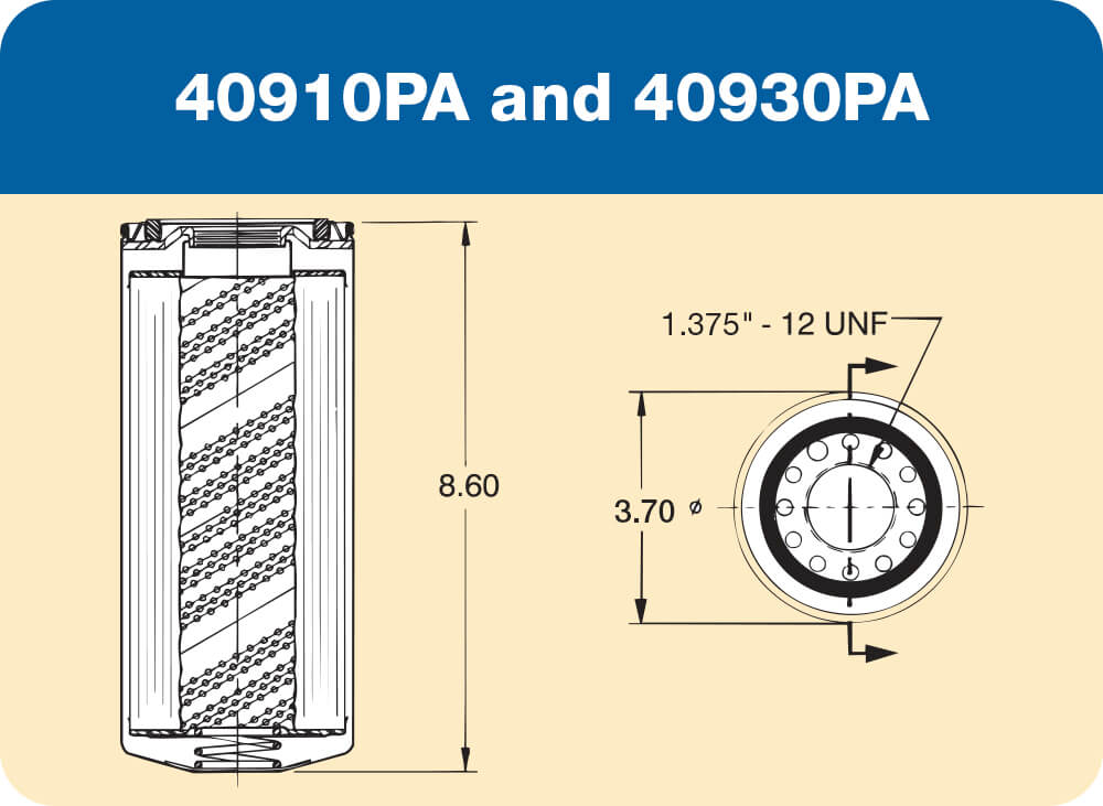 40910 PA and 40930 PA Diagram