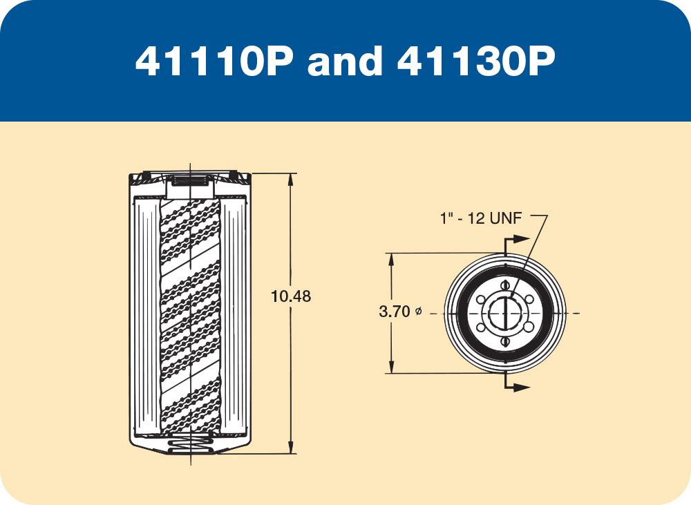 41110 P and 41130 P Diagram
