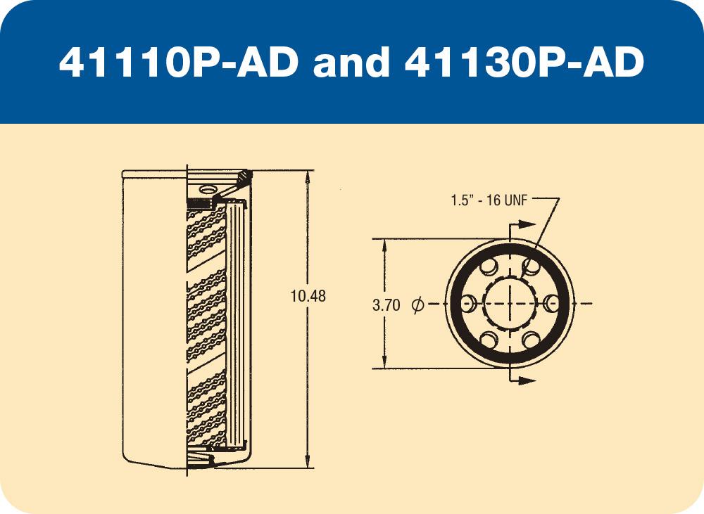 41110 P-AD and 41130 P-AD Diagram