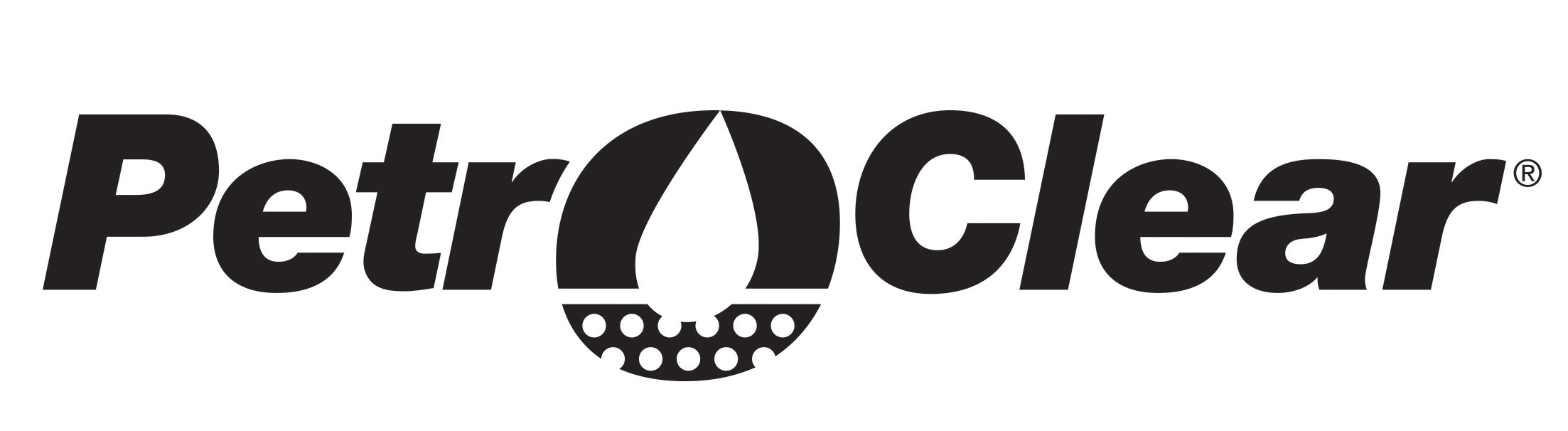 PetroClear Black Logo on White