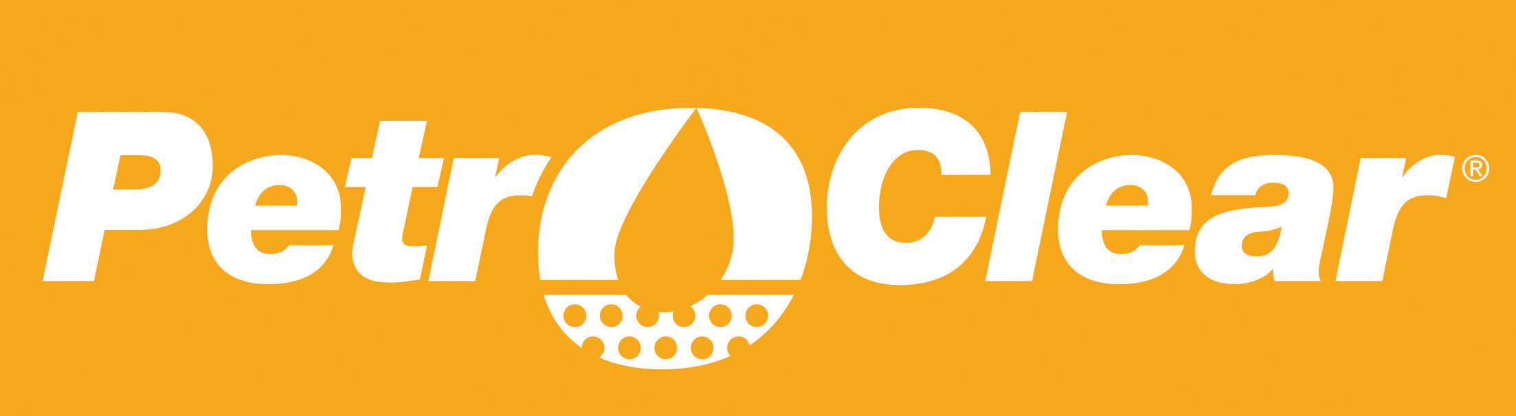 PetroClear White Logo on Yellow